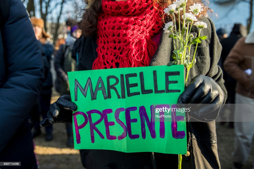 Protest against the killing of Rio's councilwoman Marielle Franco in Berlin