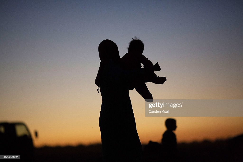 Refugees Flee Syria As ISIS Advances On Kobani : News Photo