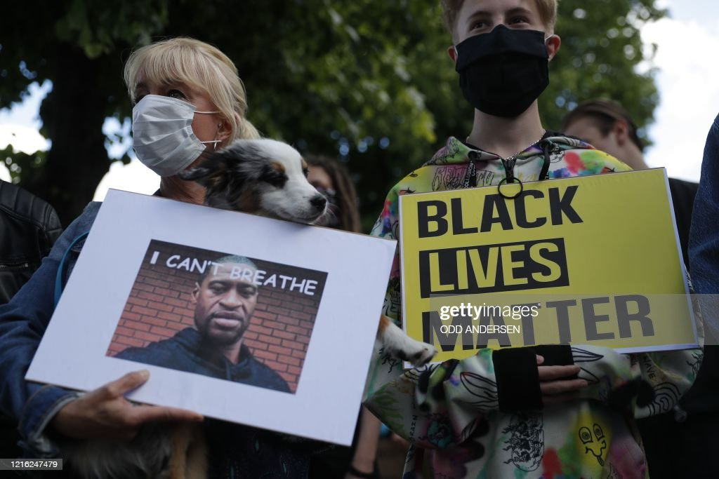 GERMANY-US-POLICE-JUSTICE-RACISM-PROTEST : News Photo