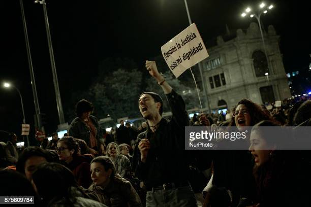 quotAlso the justice violates my freedomquot during a protest against violence against women in Madrid Spain on 17th November 2017