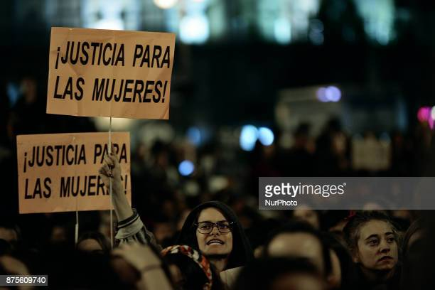 quotJustice for womenquot during a protest against violence against women in Madrid Spain on 17th November 2017