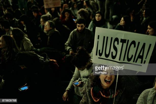 quotJusticequot during a protest against violence against women in Madrid Spain on 17th November 2017