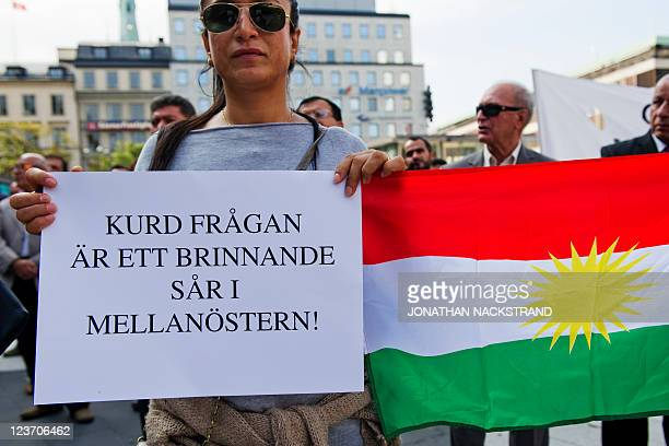 'The Kurdish issue is a burning wound in the Middle East' on September 4 2011 during a demonstration in Stockholm against operations by Iran and...