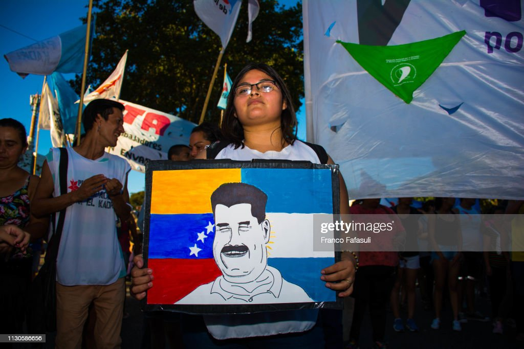 ARG: Venezuelans Protest In Buenos Aires