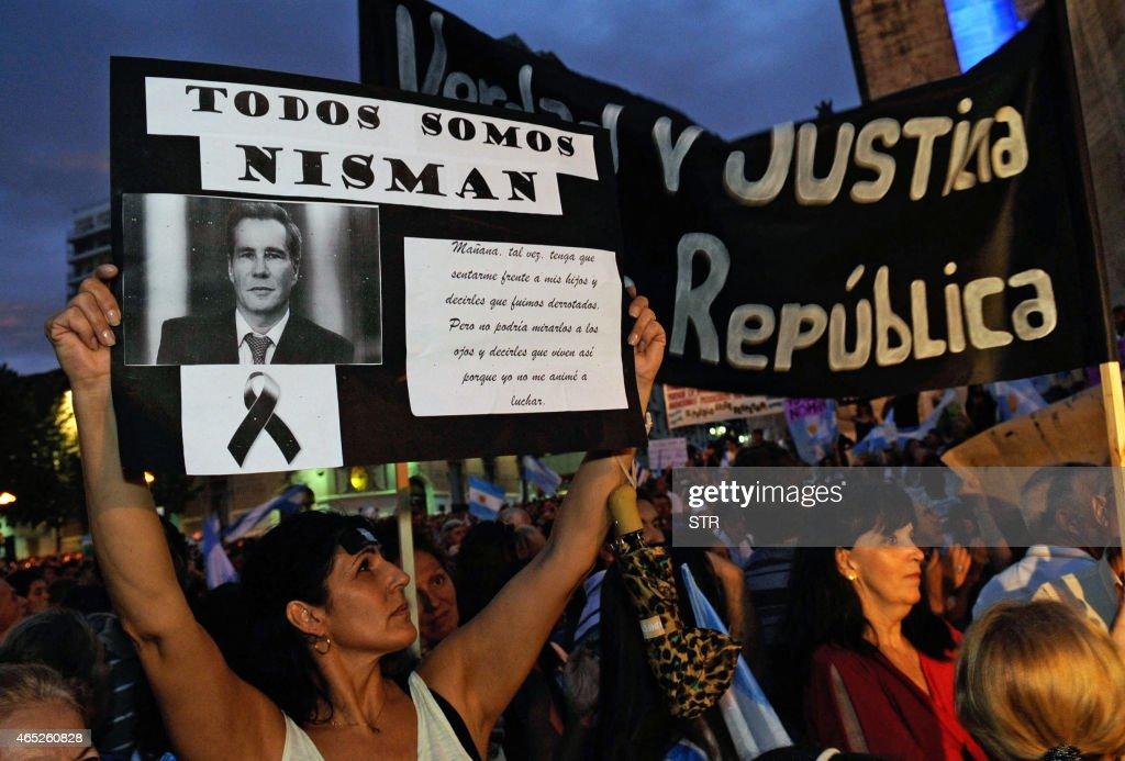 ARGENTINA-ISRAEL-IRAN-AMIA-NISMAN-DEMO : Foto di attualità