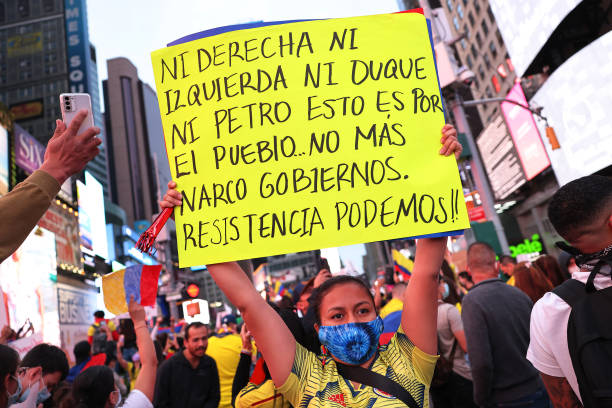 NY: People Rally In New York City In Support Of Colombian Protesters