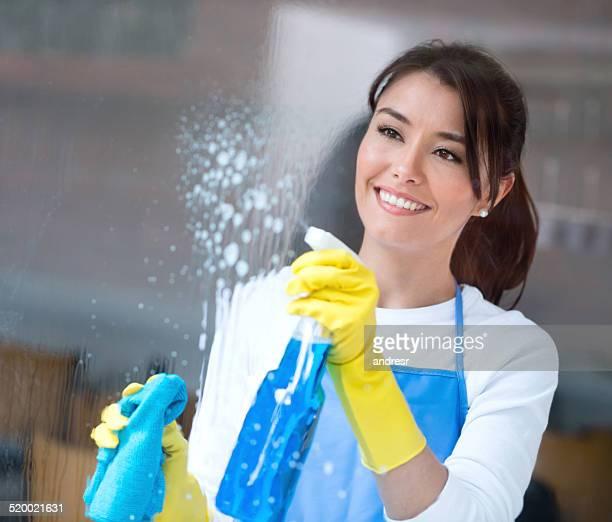 Woman housekeeping