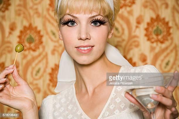 woman in 1960s attire