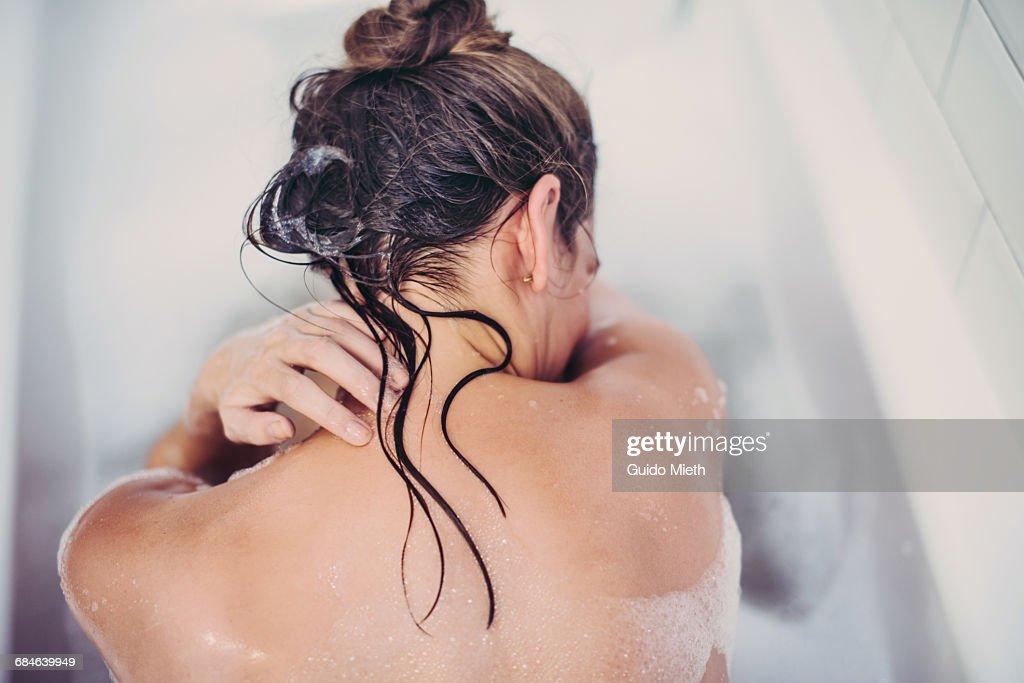 Woman in a bathtube. : Stock Photo