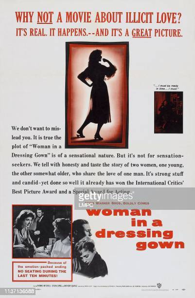 Woman In A Dressing Gown poster bottom lr Yvonne Mitchell Anthony Quayle Sylvia Syms Anthony Quayle Sylvia Syms on poster art 1957