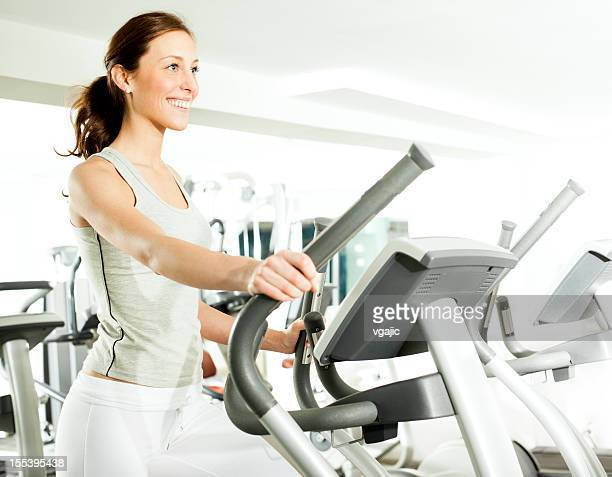 Woman in a gym.