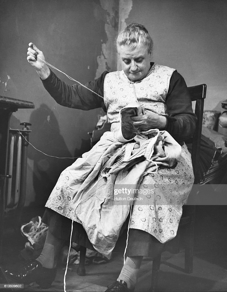 Image of: Images Photograph Shows An Elderly Lady Who Is Staying At Birmingham Home For Old Peo Getty Images Woman In Home For Old People In Birmingham England Mending