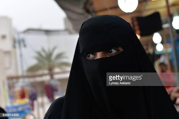 A woman in a market in Hofuf Saudi Arabia on March 17 2015