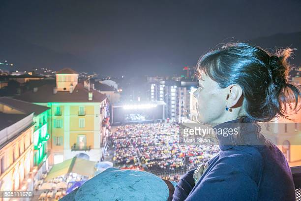 Woman in a music concert