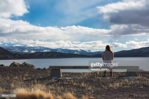 Woman in a Peaceful Thinking Spot