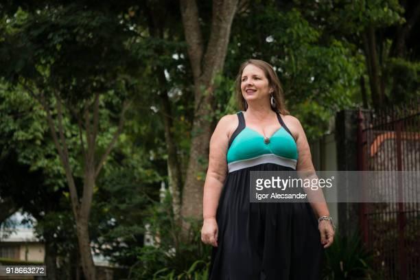 Woman in a quiet neighborhood