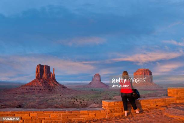 Woman Taking a Picture of Monument Valley