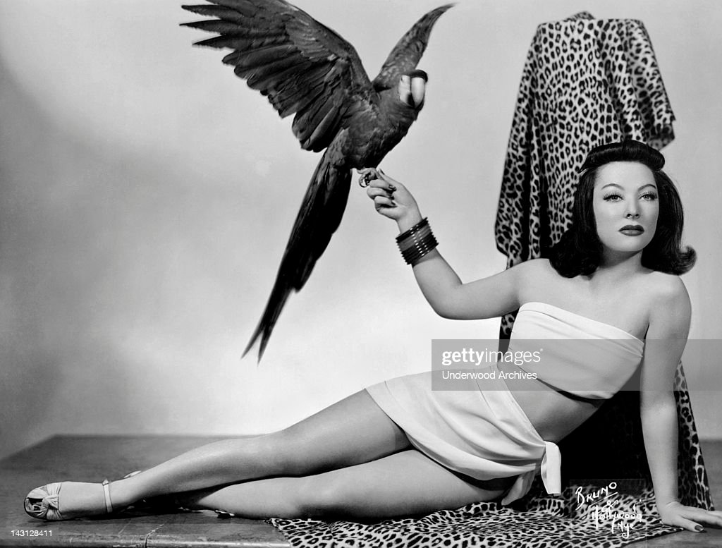 A Woman Holding A Parrot : News Photo