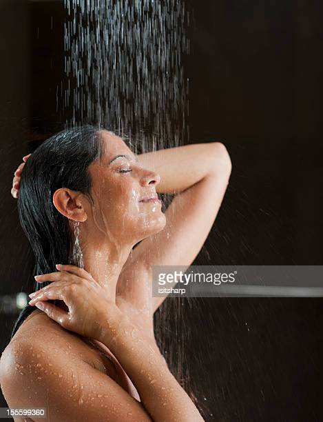Woman in a shower