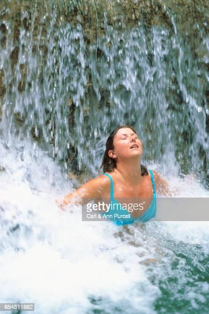 Woman in a Waterfall