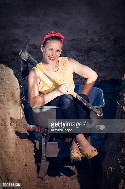 Woman in a Wheelbarrow
