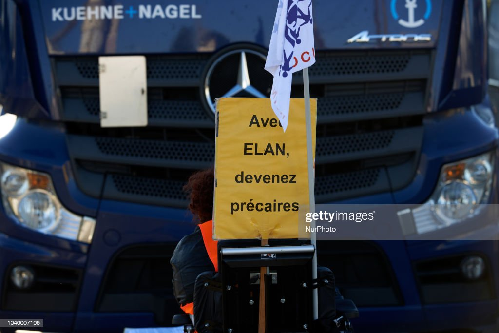 Disabled People Protest In Toulouse