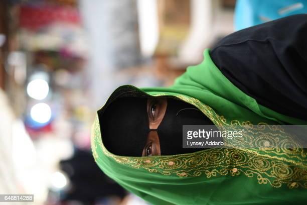 Woman in a women's market in Hofuf Saudi Arabia March 17 2015