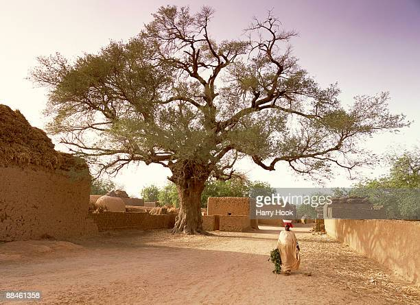 Woman in African village