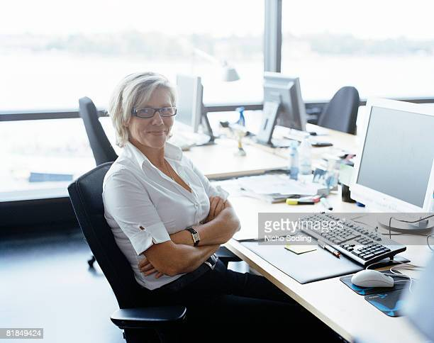 A woman in an office Sweden.