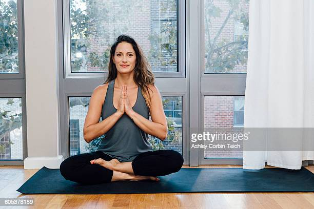 Woman in Anjali Mudra pose