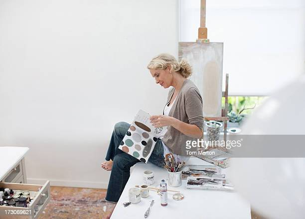 Woman in art studio