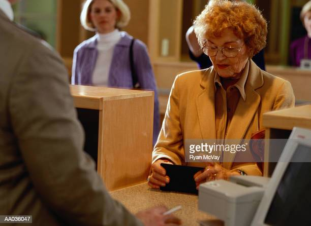 Woman in Bank