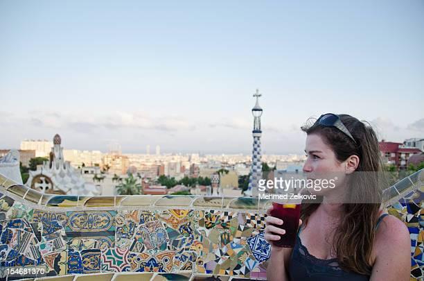 Woman in Barcelona city