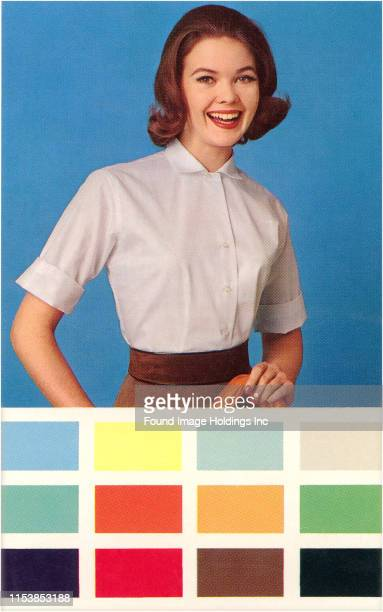 Woman in Blouse Paint Chips