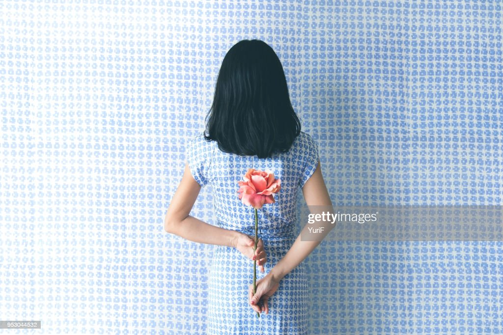 Woman in blue : Stock Photo