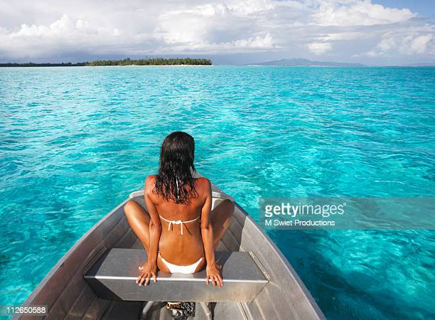 Woman in boat