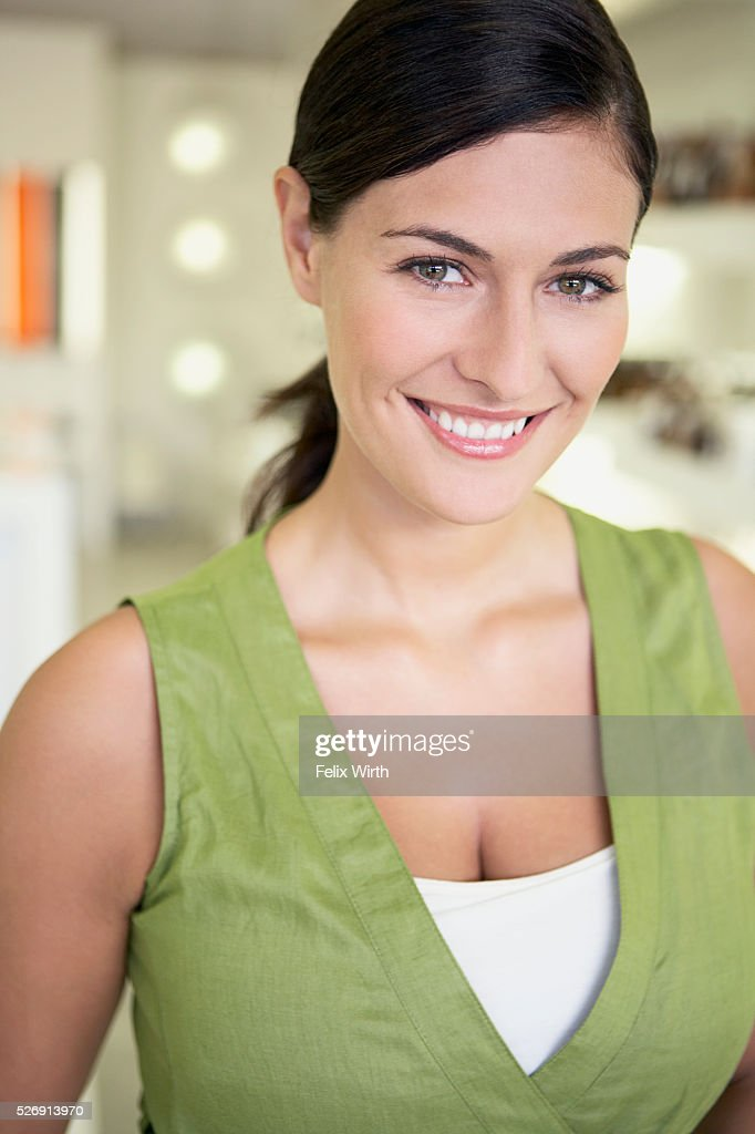 Woman in boutique : Stock Photo