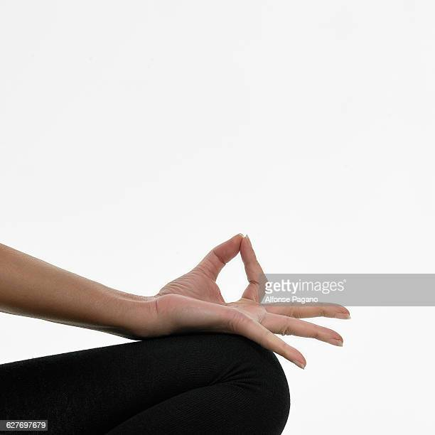 woman in burka Yoga Hands