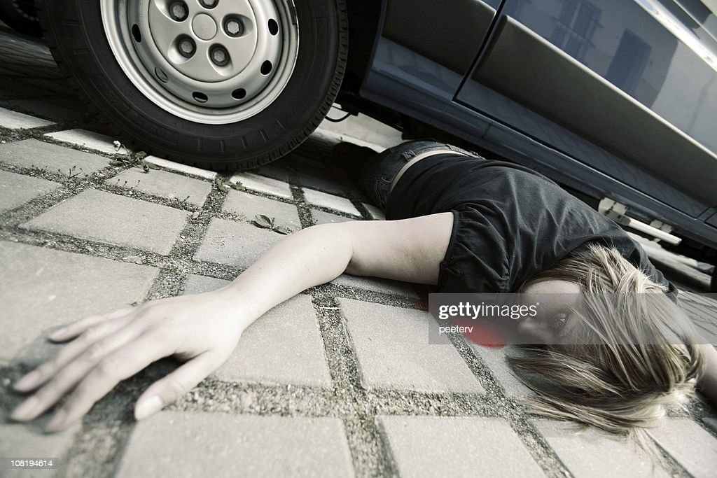 Woman In Car Accident With Blood Stock Photo Getty Images