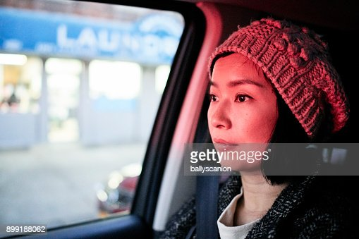 Woman In Car, Portrait