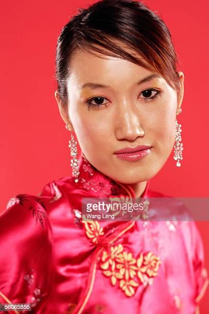 Woman in Cheongsam, head shot