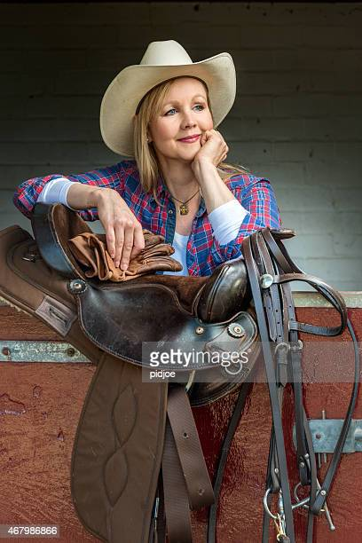 Woman in classic country & western horse ridding tenue