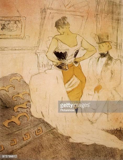 Woman in Corset ToulouseLautrec Henri de 1896