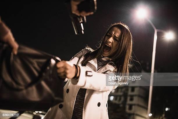 Frau in Gefahr