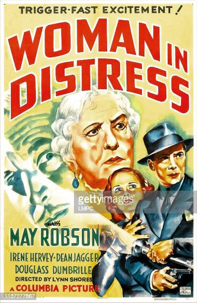 Woman In Distress poster US poster from left Douglass Dumbrille May Robson Irene Hervey Dean Jagger 1937