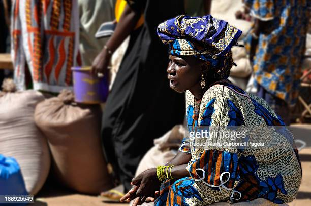 Woman in Djenne monday market, Mali, 2009