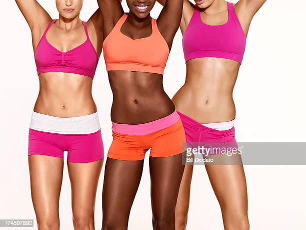 3 woman in exercise clothes