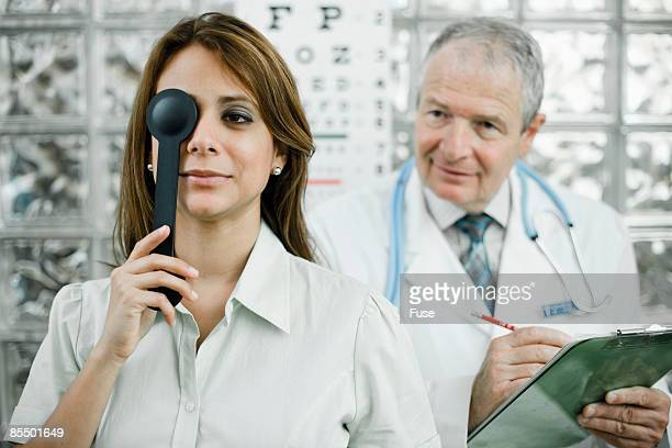 Woman in Eye Examination