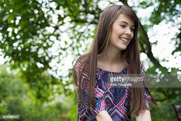 woman in garden - one young woman only stock pictures, royalty-free photos & images