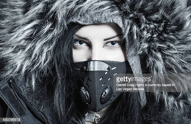 woman in helsinki finland - parka coat stock photos and pictures